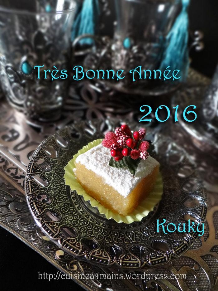 Bonne année 2016    - cuisine à 4 mains