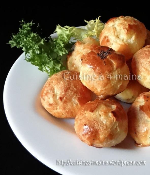Gougères 2 - cuisine à 4 mains