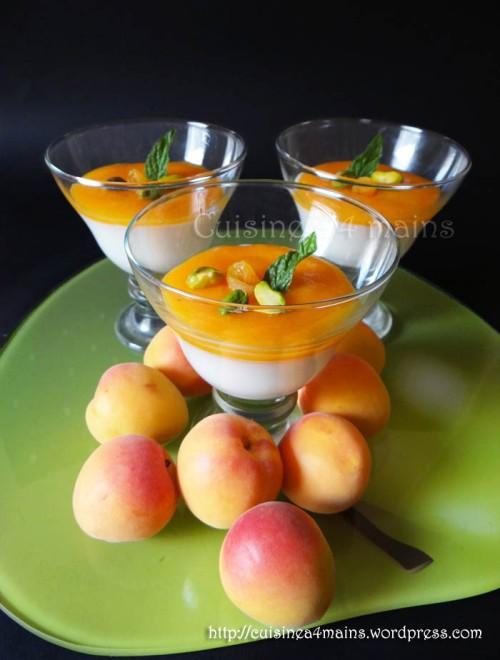 mahalabiya aux abricots 1 - cuisine à 4 mains