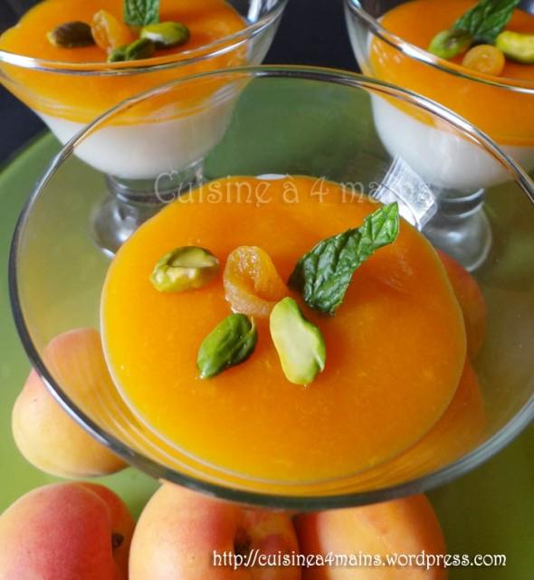 mahalabiya aux abricots 2 - cuisine à 4 mains
