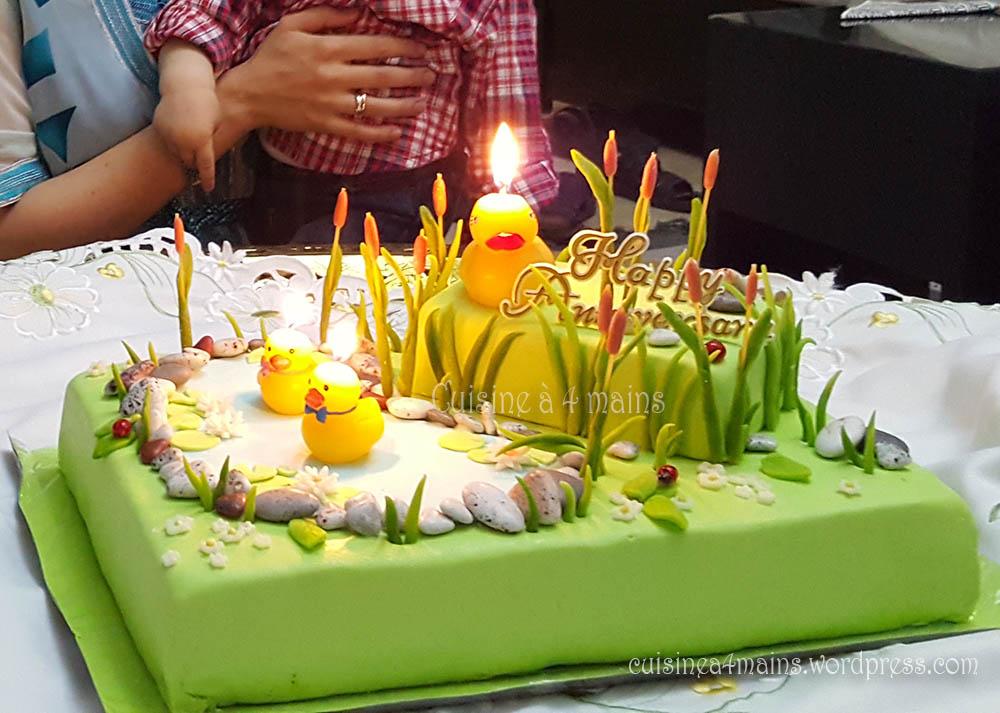 Top Mare aux canards, gâteau d'anniversaire de Wassim. | Cuisine à 4 mains GO74